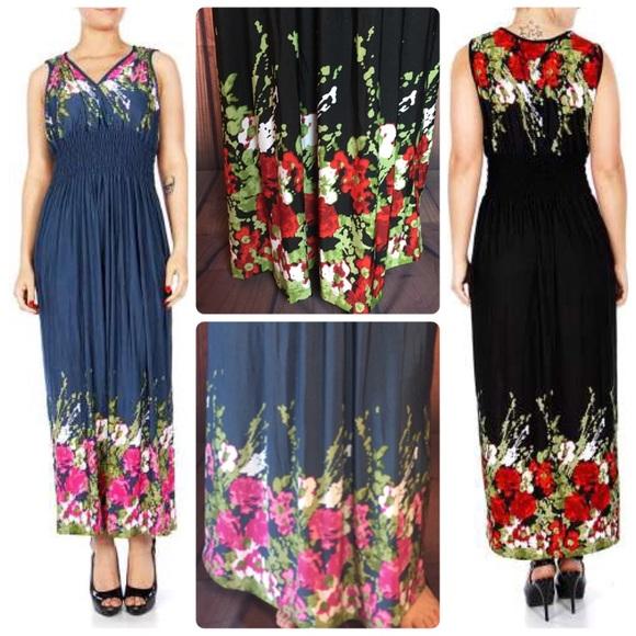 7d61dc6c893 SALE 🤩 plus size summer maxi dress floral XL